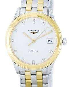 ロンジン レ ・ グランデス旗艦自動ダイヤモンド アクセント パワー リザーブ L4.774.3.27.7 男性用の腕時計