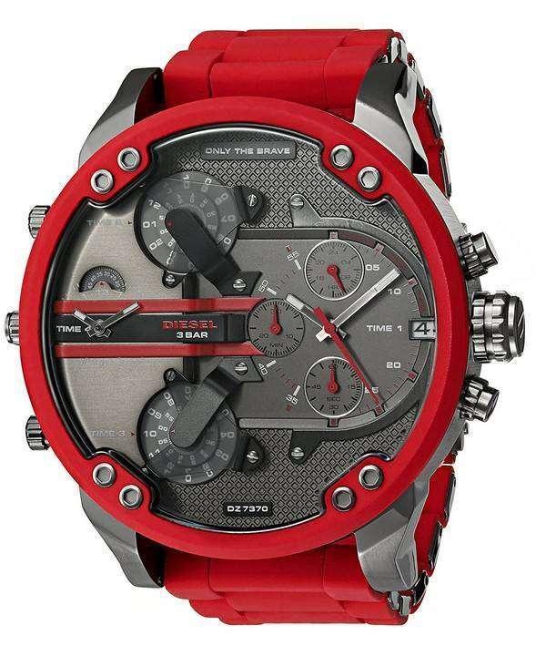 ディーゼルさんパパ 2.0 特大クオーツ クロノグラフ DZ7370 メンズ腕時計