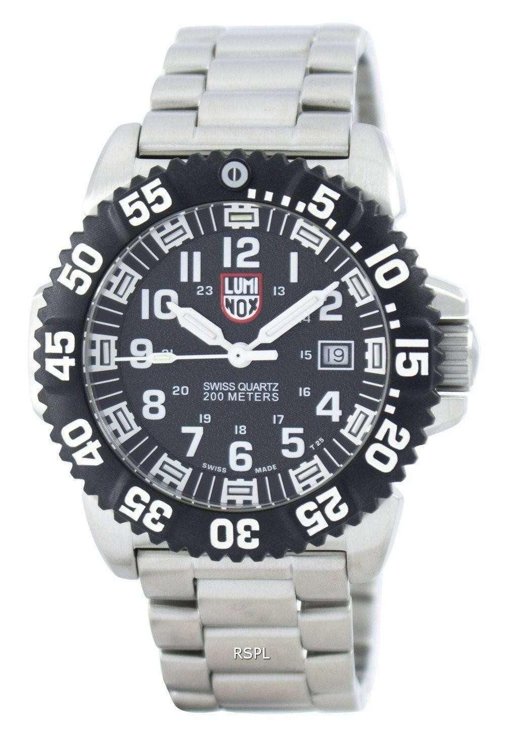 ルミノックス海海軍シール スティール カラーマーク 3150 シリーズ スイス製クォーツ 200 M XS.3152.NV メンズ腕時計