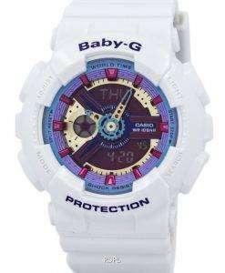 カシオ ベビー G アナログ デジタル マルチ カラー ダイヤル BA-112-7 a レディース腕時計