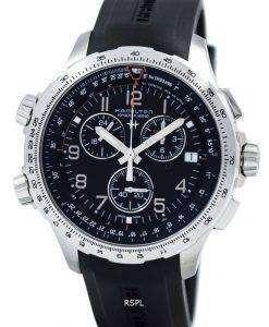 ハミルトン カーキ アヴィエイション x-ウィンド クロノグラフ クォーツ GMT H77912335 メンズ腕時計