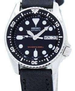 セイコー自動ダイバーズ 200 M 比黒革 SKX013K1 LS4 メンズ腕時計