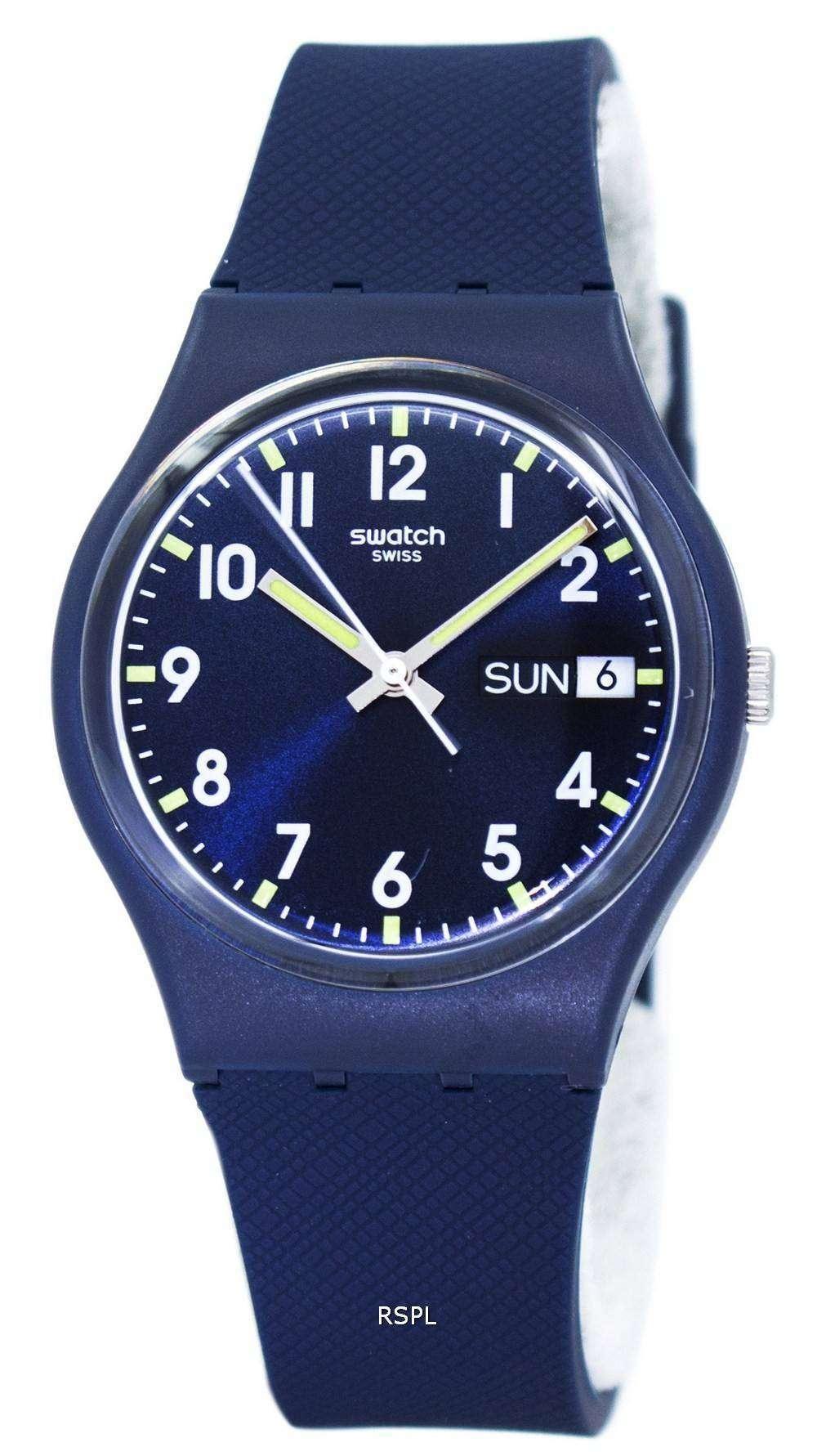 スウォッチ オリジナル サー ブルー クオーツ GN718 ユニセックス腕時計