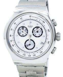 スウォッチ アイロニー裕福なスター クロノグラフ タキメーター石英 YOS401G メンズ腕時計