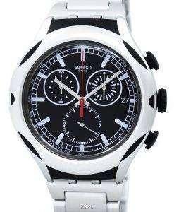 スウォッチ アイロニー タグ Xlite ブラック エネルギー Chorongraph 石英 YYS4000AG メンズ腕時計