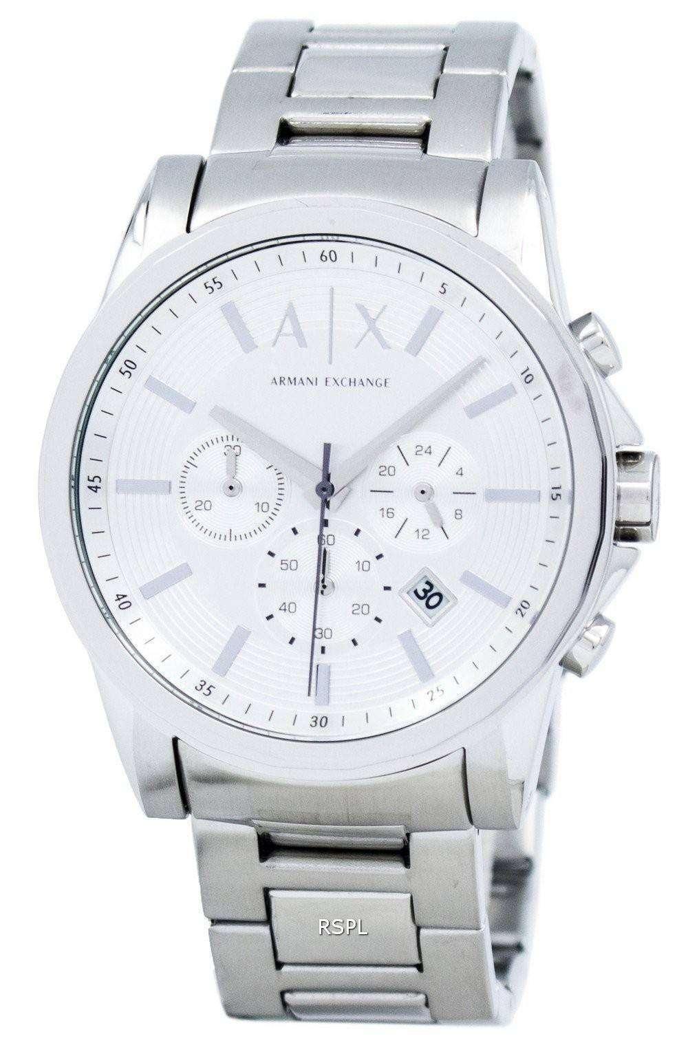 アルマーニエクス チェンジ クロノグラフ シルバー トーン ダイヤル AX2058 メンズ腕時計