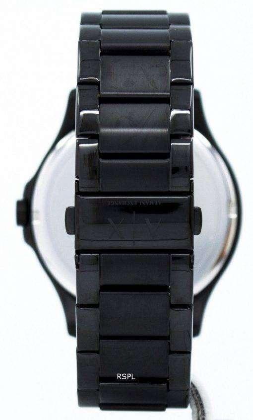 アルマーニエクス チェンジ ブラック ダイアル ステンレス鋼 AX2104 メンズ腕時計