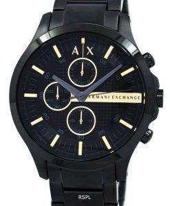 アルマーニエクス チェンジ ブラック PVD クロノグラフ クォーツ AX2164 メンズ腕時計