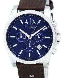 アルマーニエクス チェンジ クォーツ クロノグラフ ブルー ダイヤル AX2501 メンズ腕時計