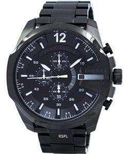 ディーゼル メガ チーフ クォーツ、クロノグラフ グレー ダイヤル ブラック IP DZ4283 メンズ腕時計