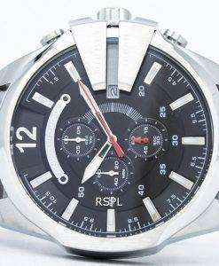 ディーゼル メガ チーフ クォーツ、クロノグラフ ブラック ダイヤル DZ4308 メンズ腕時計