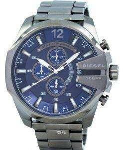 ディーゼル メガ チーフ クロノグラフ ブルー ダイヤル 100 M DZ4329 メンズ腕時計