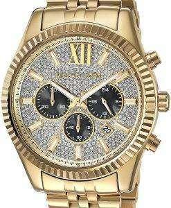 ミハエル Kors レキシントン クロノグラフ水晶アクセント MK8494 メンズ腕時計