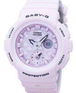 カシオベビー-G の耐衝撃性世界時間アナログ デジタル BGA 190BE 4A レディース腕時計