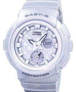 カシオベビー-G の衝撃耐性世界時間アナログ デジタル BGA-195-8 a レディース腕時計