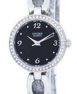 市民水晶ダイヤモンド アクセント EJ6070 51E レディース腕時計