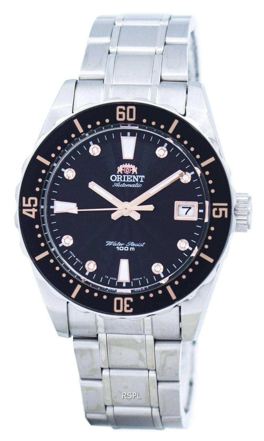 スポーティな自動 FAC0A001B0 レディース腕時計をオリエントします。