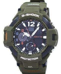カシオ G ショック Gravitymaster アナログ デジタル ツイン センサー世界時間ジョージア州 1100KH-3 a メンズ腕時計