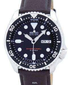 セイコー自動ダイバーズ比ダークブラウン レザー SKX007J1 LS11 200 M メンズ腕時計