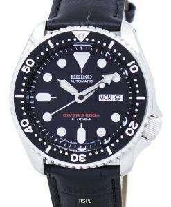 セイコー自動ダイバーズ比黒革 SKX007J1 LS6 200 M メンズ腕時計