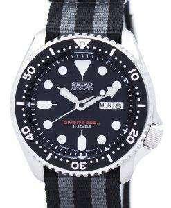 セイコー自動ダイバーの NATO ストラップ 200 M NATO1 SKX007J1 メンズ腕時計