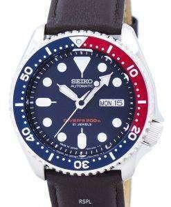 セイコー自動ダイバーズ比ダークブラウン レザー SKX009J1 LS11 200 M メンズ腕時計