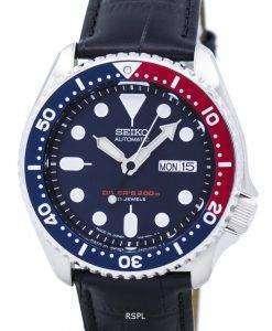 セイコー自動ダイバーズ比黒革 SKX009J1 LS6 200 M メンズ腕時計