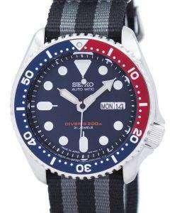 セイコー自動ダイバーの NATO ストラップ 200 M SKX009J1 NATO1 メンズ腕時計