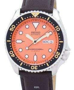 セイコー自動ダイバーズ比ダークブラウン レザー SKX011J1 LS11 200 M メンズ腕時計