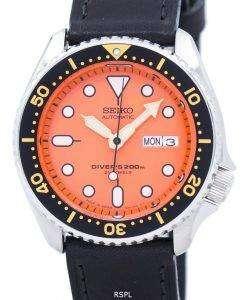セイコー自動ダイバーズ比黒革 SKX011J1 LS8 200 M メンズ腕時計