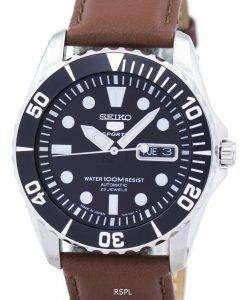 セイコー 5 スポーツ自動 23 宝石比茶色の革 SNZF17J1 LS12 メンズ腕時計