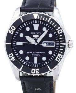 セイコー 5 スポーツ自動 23 宝石比黒革 SNZF17J1 LS6 メンズ腕時計