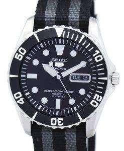 セイコー 5 スポーツ自動 23 宝石 NATO ストラップ SNZF17J1 NATO1 メンズ腕時計