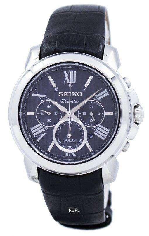 セイコー プレミア ソーラー クロノグラフ SSC597P2 メンズ腕時計