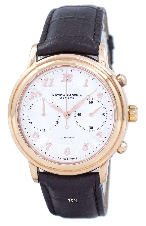 レイモンドウェイル ジュネーブ マエストロ クロノグラフ自動 4830 PC5 05658 メンズ腕時計腕時計