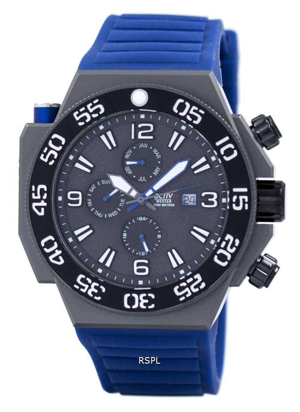 ウェスター クオーツ 1000 M 90075GGN446 メンズ腕時計