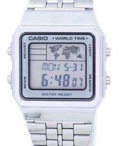 カシオ目覚まし世界時間デジタル A500WA 7DF メンズ腕時計