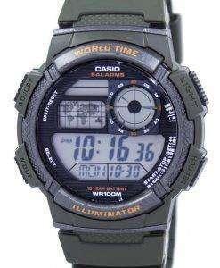 カシオ照明世界時間アラーム デジタル AE 1000 w 3AV メンズ腕時計