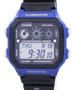 カシオ青年シリーズ照明クロノグラフ アラーム AE-1300WH-2AV メンズ腕時計