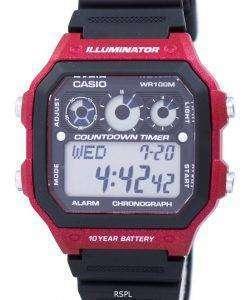 カシオ青年シリーズ照明クロノグラフ アラーム AE 1300WH 4AV メンズ腕時計
