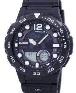 カシオ目覚ましアナログ デジタル平静時 100 w 1AV ワールドタイムメンズ腕時計