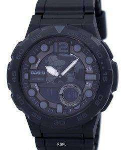 カシオ目覚ましアナログ デジタル平静時 100 w 1BV ワールドタイムメンズ腕時計