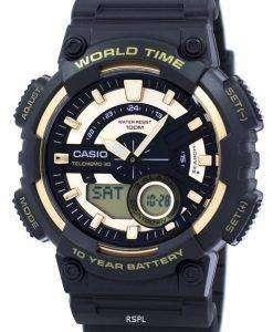 カシオ青年シリーズ世界 Telememo 30 時間アラーム aeq が 110BW 9AV メンズ腕時計