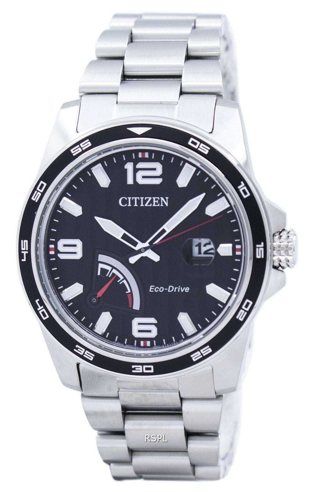 PRT シチズンエコ ドライブ パワー リザーブ アナログ AW7030 57E メンズ腕時計