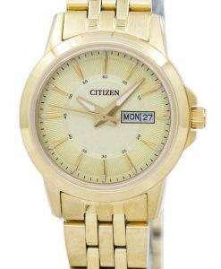 市民石英アナログ EQ0603-59 P レディース腕時計