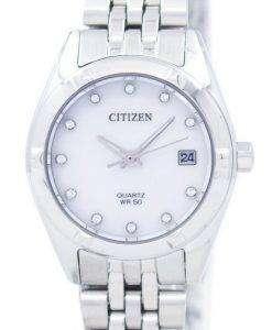 市民アナログ水晶ダイヤモンド アクセント EU6050-59 D レディース腕時計