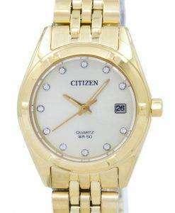 市民アナログ水晶ダイヤモンド アクセント EU6052-53 P レディース腕時計