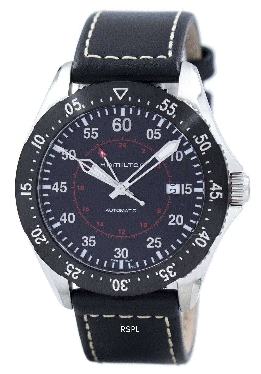 ハミルトン カーキ アヴィエイション パイロット GMT 自動 H76755735 メンズ腕時計