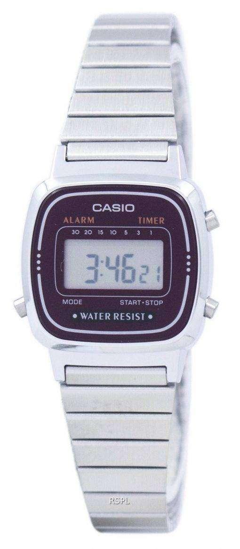 カシオ目覚ましデジタル ラ-670WA-4 D レディース腕時計