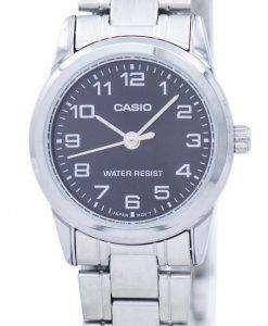 カシオ石英 LTP V001D 1B レディース腕時計